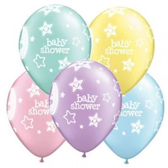 Baby Shower Moons & Stars Q11 per 25 Stuks