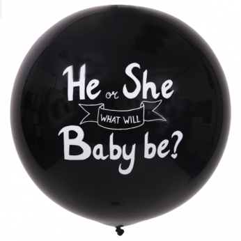 1 x 3ft (90 cm) Black Gender Reveal Qualatex Ballon