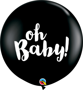 1 X 3FT (90 cm) Oh Baby Qualatex ballon