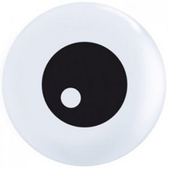 Bedrukte latex ballon friendly eyeball 25 stuks topprint Q11