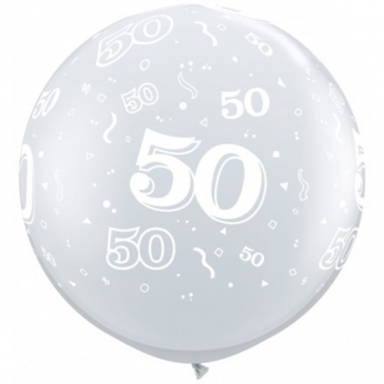 1 X 3FT (90 cm) Diamond Clear 50 Qualatex Ballon