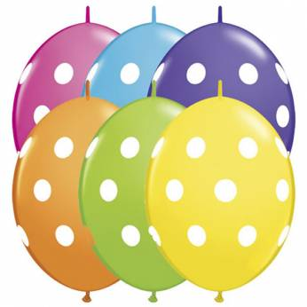 QuickLink Ballon Dots Assortie per 10 Stuks