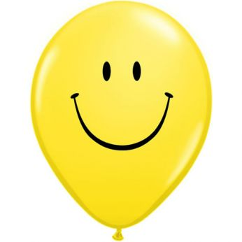 Retail: Qualatex Ballon Smiley Face Yellow Q11 per 6 Stuks