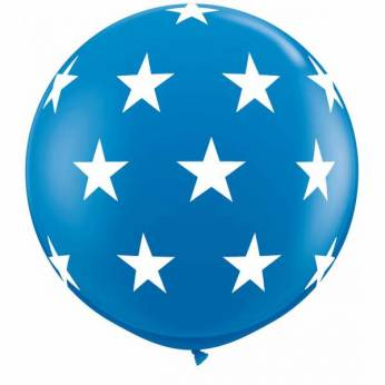 1 X 3FT (90 cm) BIG STARS DARK BLUE Qualatex ballonnen