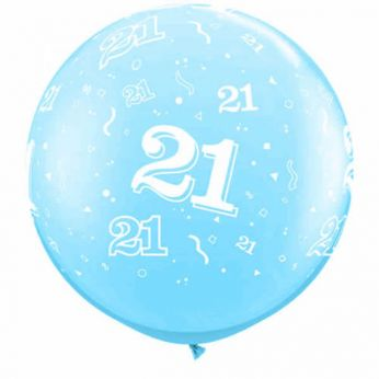 1 X 3FT (90 cm) Metallic Light Blue 21 Qualatex Ballon