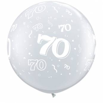 1 X 3FT (90 cm) Diamond Clear 70 Qualatex Ballon