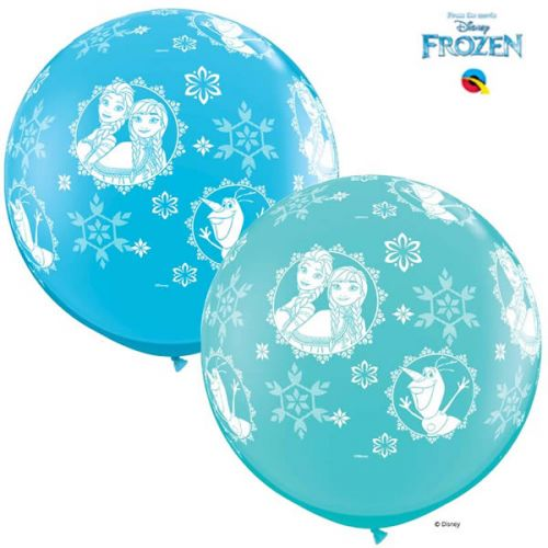 Grote Frozen Ballon Egg's Blue 3FT Per Stuk