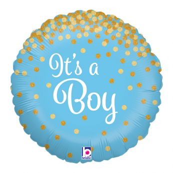FOLIEBALLON GLITTER HOLOGRAPHIC IT'S A BOY