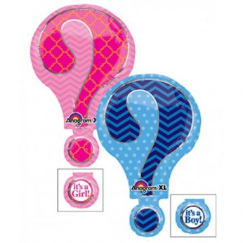 Supershape Vraagteken Gender Reveal