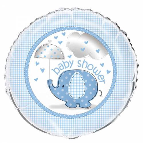 Folieballon Baby Shower olifant Jongen