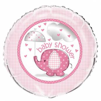 Folieballon Baby Shower olifant meisje