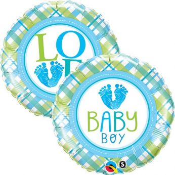 Folieballon Baby Boy love voetje