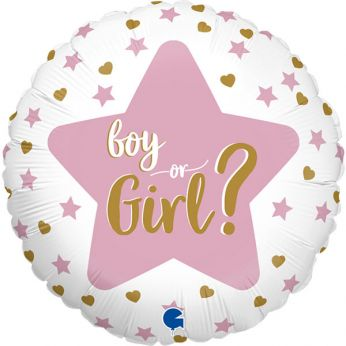 Heliumballon boy or girl star