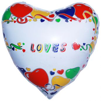 XL Folieballon Personalised Loves