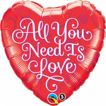 Folieballon All You Need is Love