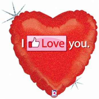 Folieballon Facebook Love You