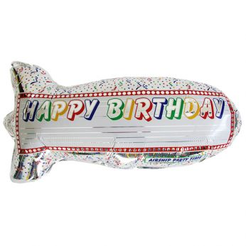 Folieballon Airship Birthday
