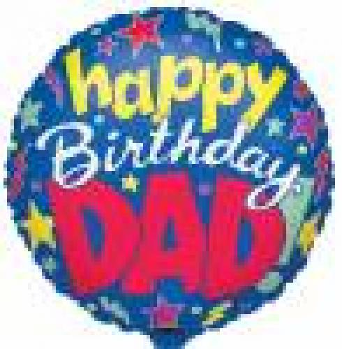 Folieballon Happy Birthday Dad