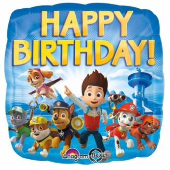 Folieballon Paw Patrol Happy Birthday