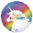Helium Ballon Glitter Unicorn Birthday