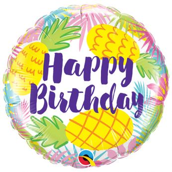 Folieballon Happy Birthday Pineapples