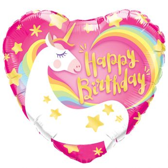 Folieballon Happy Birthday Magical Unicorn