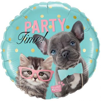 Folieballon Party Time Pets