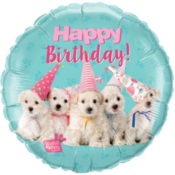 Folieballon Birthday Puppies