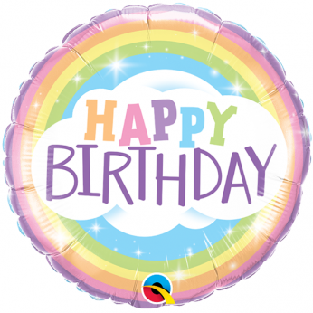 Helium Ballon Birthday Rainbow