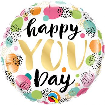 Heliumballon met de tekst: Happy YOU day