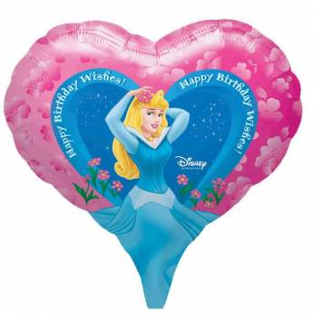 Folieballon Happy Birthday Disney Prinses