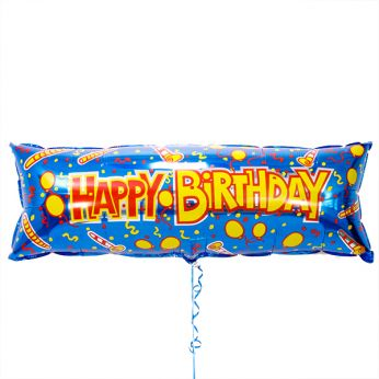 XL Folieballon Banner Happy Birthday