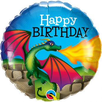 Heliumballon Happy Birthday Mythical Dragon