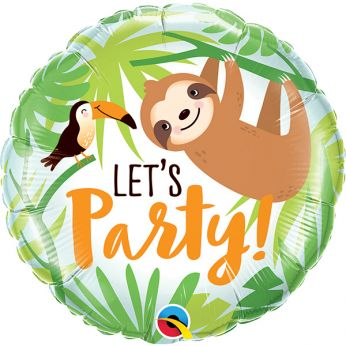 Folieballon Let's Party Toucan & Sloth