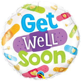 Folieballon Get Well Soon Pleisters