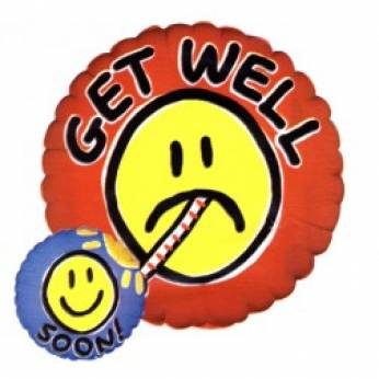 Folieballon Smile met de Tekst: Get well Soon