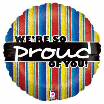 Heliumballon met de Tekst: We're so Proud of you