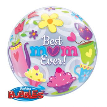 Bubble Ballon Moederdag Best Mom Ever