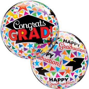 Bubble Ballon Congrats Grad!