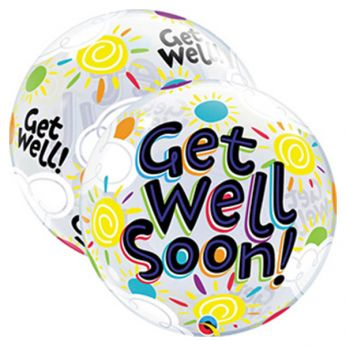 Bubble Ballon Get Well Soon Sunny Day