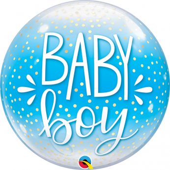 Helium Deco Bubble Confetti Dots  baby boy