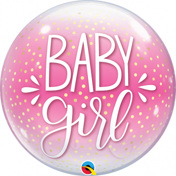 Helium Deco Bubble Confetti Dots  baby girl