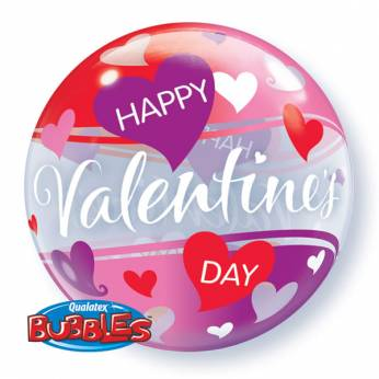 Bubble Ballon Happy Valentine's Day