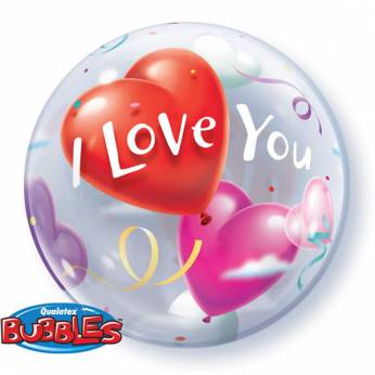 Bubble ballon I Love you
