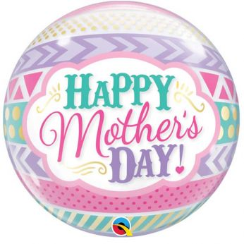 Bubble Ballon Mother's day Dots & Stripes