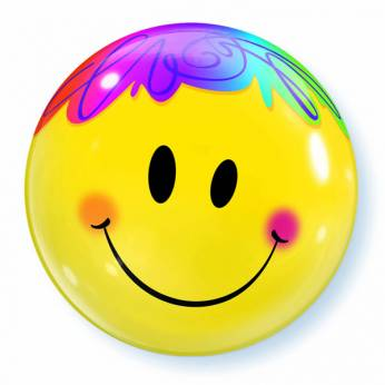 Bubble Ballon Regenboog Smiley