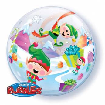 Bubble Ballon Kerstelfjes
