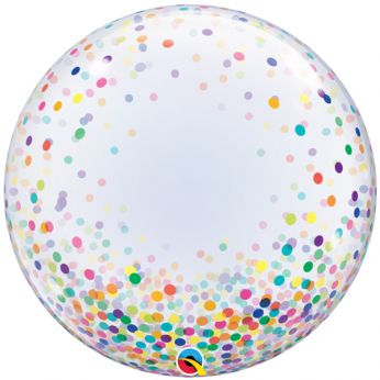 Helium Deco Bubble Confetti Dots Colorful