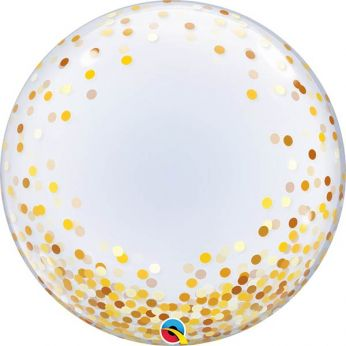 Helium Deco Bubble Confetti Dots Gold