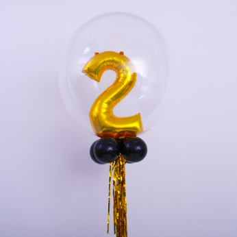 Special Number Bubble Balloon Gold